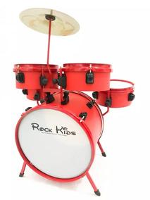 Bateria Musical Infantil Rmv Rock Kids Cor Vermelho