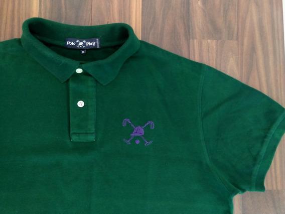 Camisa Polo Play Masculina Polo M Verde Oferta Original
