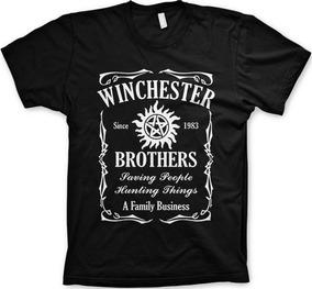 Camisetas Winchester Brothers Supernatural Geeks Nerds