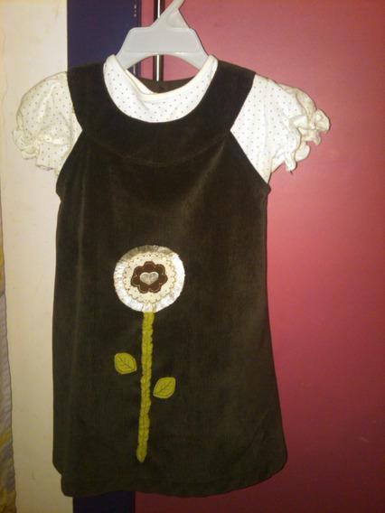 Vestido Para Niñas De Pana (7verd(