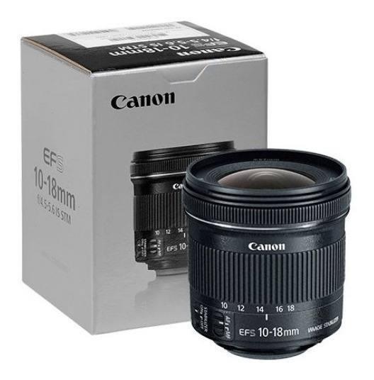 Canon Ef-s 10-18mm F4.5-5.6 Is Lente Stm 12x Sem Juros
