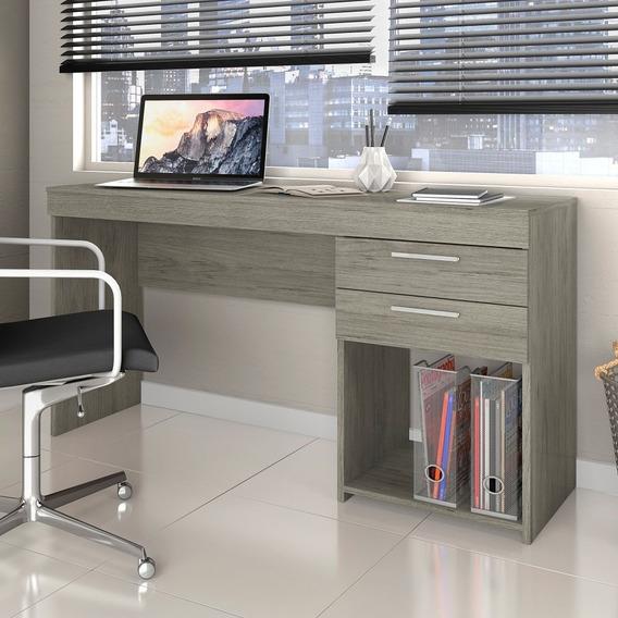 Mesa Home Office P/ Escritório 02 Gavetas Notável Carvalho