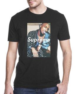 Camiseta Camisa Tupac Supre Revista -908