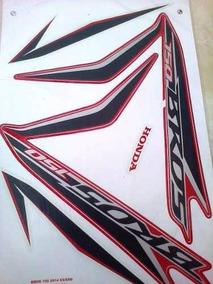 Adesivo Nxr 150 Bros 2014 Es Esd Vermelha - Frete R$9,90