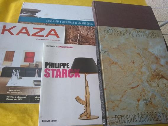 Decoração Arquitetura Lote Com 5 Livros Revenda Preço Baixo