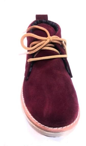 Zapato Chavito Cuero Vacuno Gamuzado Calzado Comodas Y Livianas Mujer Fiorcalzados