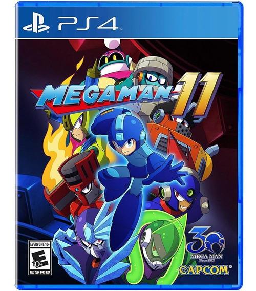 Mega Man 11 Ps4 Mídia Física Novo Original Lacrado