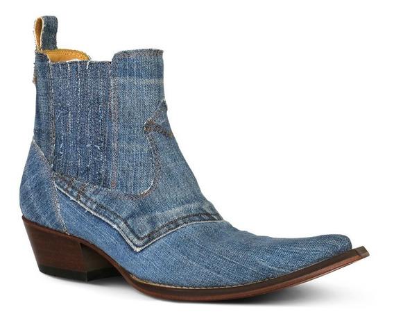 Botina Country Masculina Silverado Jeans