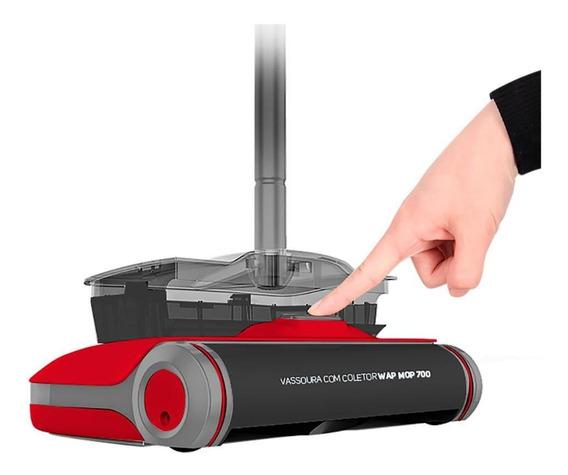 Vassoura Com Coletor Mop 700 Fw006114 Wap Vermelha