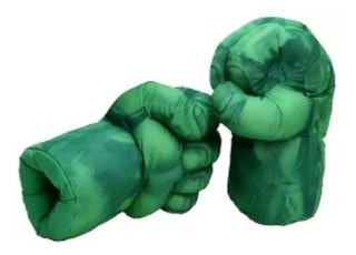 Increible Hulk X 2 Puños Guantes Gigantes Acolchados Par