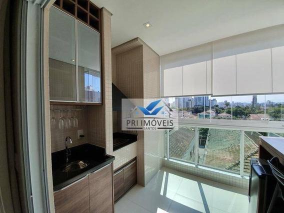Apartamento Com 2 Dormitórios À Venda, 77 M² Por R$ 680.000,00 - Ponta Da Praia - Santos/sp - Ap1216