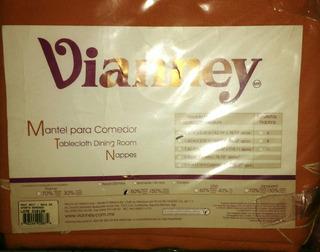 Mantel Rectangular Para Comedor Vianney Oporto Bordado