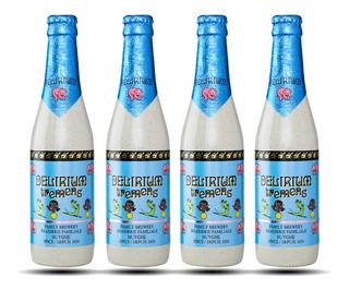 Pack X4 Cerveza Delirium Tremens 330 Ml - 12 Canillas Tienda