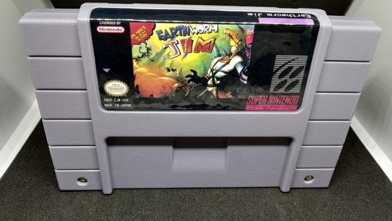 Earthworm Jim 1 Super Nintendo Pronta Entrega