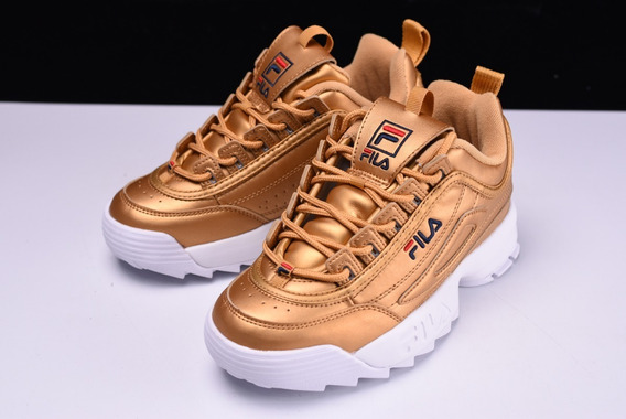 Zapatos Fila Disruptor 2 Ray Sawtooth Pink Gold