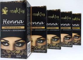 Kit Com 6 Henna Makiaj Sombrancelha Varias Cores Promoção