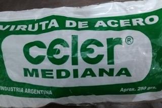 Viruta De Acero X 250grs. Mediana Celer Ramos Mejia