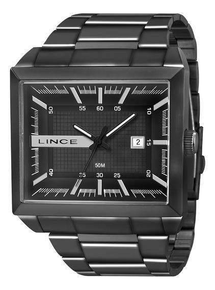 Relógio Masculino Lince Preto Quadrado Mqn4267lp1px