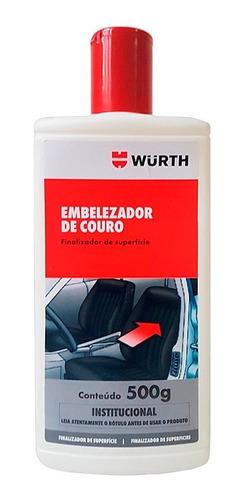 Embelezador De Couro Wurth 500g Hidrata, Limpa E Conserva