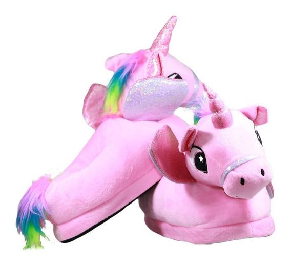 Pantuflas Unicornio Talle 24 A 29 Y 33 A 37 - Redsale