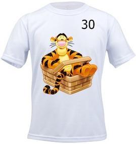 Camiseta Infantil Personalizada Ursinho Pooh Tigrão