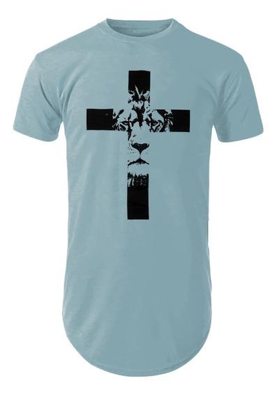 Camiseta Camisa Blusa Gospel Religiosa Evangelica Leao Cruz
