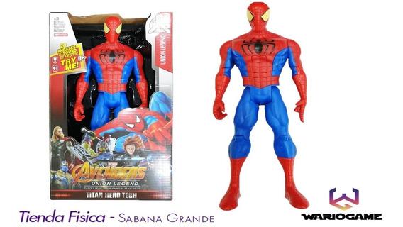 Muñeco Spiderman Clasic Articulado Con Luz Y Sonido 30cm
