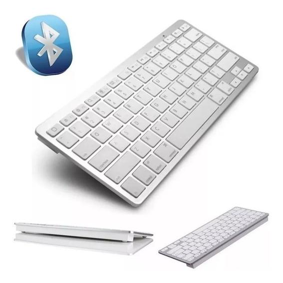 Teclado Bluetooth Padrão Apple Smartphone E Tablet Universal