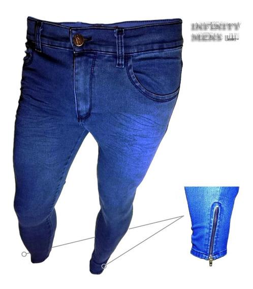 Jeans Chupin Premium 1 Cierre En Cada Tobillo