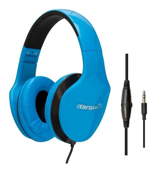 Fone Headphone Dobrável Controle Volume Azul Ta40hp