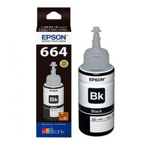 Tinta Epson T664 Kit 03 Und Bk Preto Original 70ml