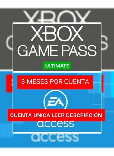 Xbox Gamepass Ultimate 1 Mes Entrega Inmediata