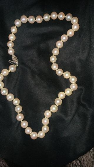 Collar De Perlas Orijonal Oro 14 K