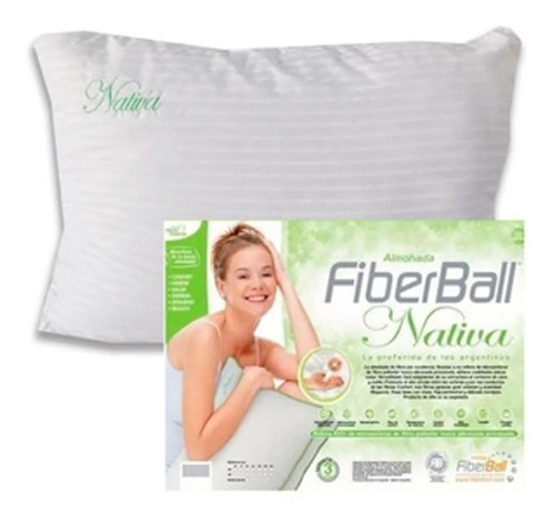 Imagen 1 de 4 de Almohada Fiberball Nativa Fibra Siliconada 70x40cm