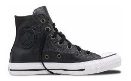 Bota Converse Leather Cuero Negra Original