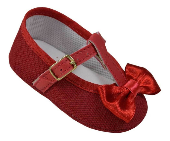 Sapatilha Sapatinho Tênis Bebe Baby Infantil Menina Pingo Doce R.6801 Vermelho