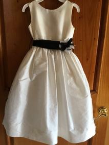 Elegante Vestido De Fiesta De Niña Talla 6 Color Beige