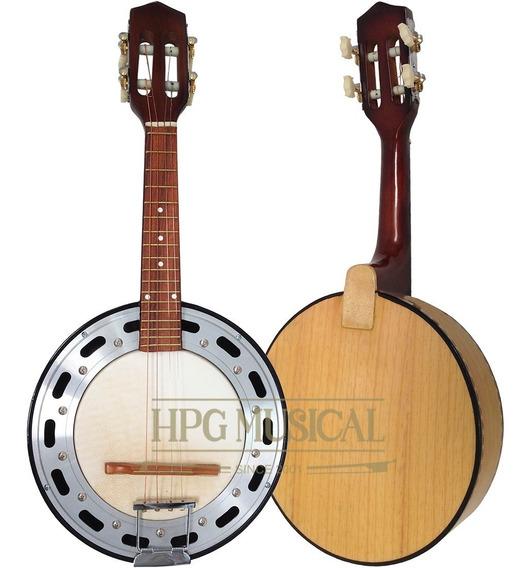 Banjo 4 Cordas Acústico Clave Sonora Marfim Natural Claro