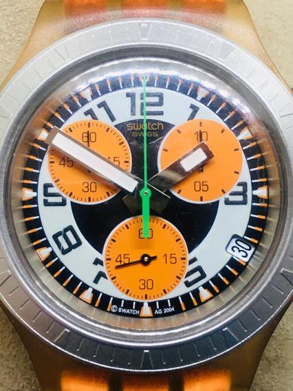 Reloj Para Hombre Swatch Irony Diaphane Deportivo