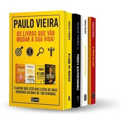 Box Paulo Vieira. 4 Livros: Fator Enriquecimento; Poder Ação