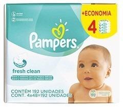 Lenços Umedecidos Para Bebês Pampers Fresh Clean Com 192u.
