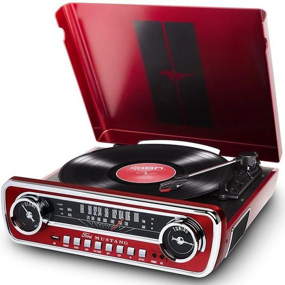 Toca-discos Vinil Mustang Ion C/ Rádio, Usb
