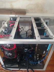 Frame De Mineração Rig 10 Placas Na Vertical Em Alumínio