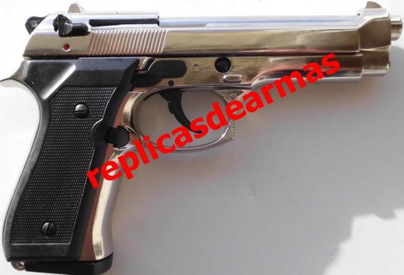 Pistola De Fogueo Beretta 92 Cromo 9 Mm