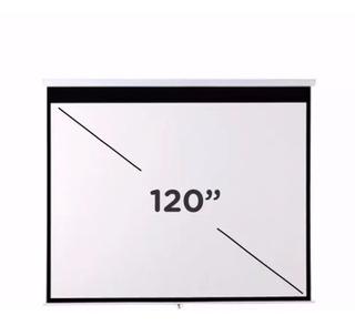 Pantalla Para Proyector De 120 Para Pared O Techo