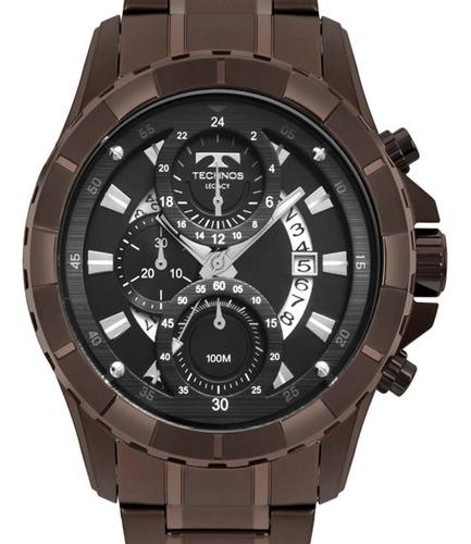 Relógio Technos Masculino Js15fn/4p Cronógrafo Chocolate +nf