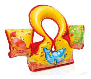 Colete Para Crianca Inflavel Piscina Aqua Vest Intex 58673