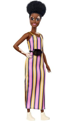 Barbie Fashionista #135 Vitiligo Vestido Rayas Mattel Ghw51