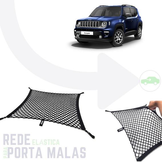 Rede Elástica Organizadora Porta Malas Renegade Bordado Jeep