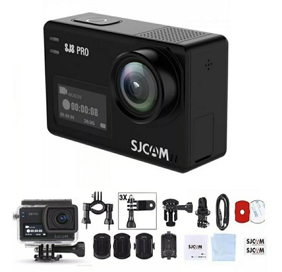 Câmera Sjcam Sj8 Pro 4k + Acessórios